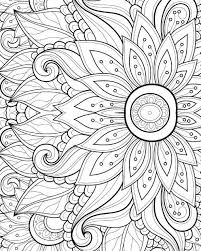 Simple Design Coloring Book Pages For Adults Free Com