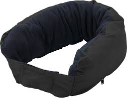 3 In 1 Multifunctional Zippered Neck Pillow Black Blanket