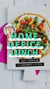 homeoffice lunch mediterrane fladenbrot pizza