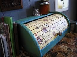 Italian Paper Roll Top Bread Box Kitchen Decor 5500 Via Etsy