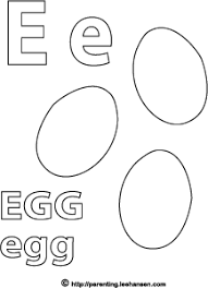 Egg Coloring Page Letter E Alphabet Printable
