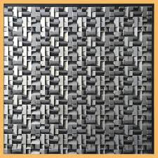100 Contemporary Ceilings 24x24 Opal PVC Silver Black MODERN Ceiling Tile