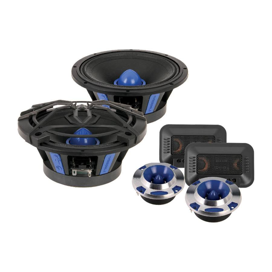 "Soundstream 6.5"" Pro Audio Components w/Tweeters-Crossovers 200W - SME.650C"