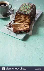 laib förmige schokolade kalter hund keine backen kuchen mit