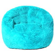 Fluffy Bean Bag Chairs Faux Fur Chair Teal Pink Fuzzy