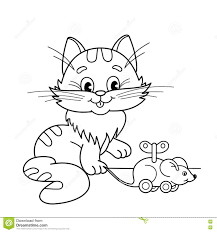 Royalty Free Vector Download Coloring Page Outline Of Cartoon Cat