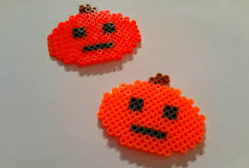 Halloween Hama Bead Patterns by Diy Citrouille En Perles Hama Pumpkin Halloween Perler Beads
