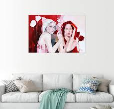 posterlounge wandbild weiss und rot uv beständiger druck hinter acrylglas kaufen otto