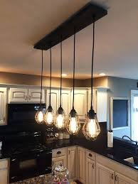 rustic kitchen lighting design island ideas wall lights