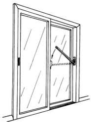Patio White Sliding Door Security Bar by Affordable Lock U0026 Safe Supply Inc S Parker Hardware Mfg Corp