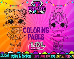 Lol Surprise Doll Coloring Pages Spice And BonBon SVG Birthday Party Clipart Image