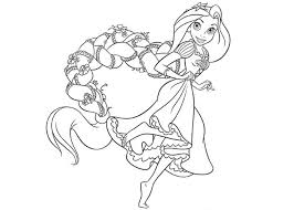Elegant Disney Princess Coloring Pages Rapunzel 15 For Free Colouring With