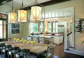 Farmhouse Dining Room Light Fixtures Charming Rustic Lighting Types Usual Pendant Lights Industrial Farmhou