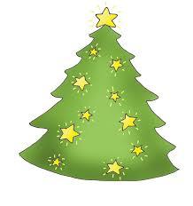 Christmas Tree With Shining Stars