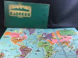 Image Is Loading Complete 1930 S Cargoes Board Game Selchow Amp