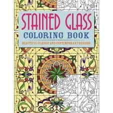 Stained Glass Colouring Book Books The Owl Barn