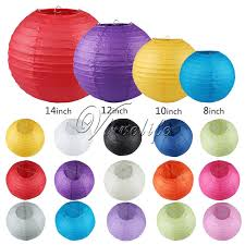 Round Chinese Paper Lantern Birthday Wedding Party Home Decor Gifts Craft DIY Hanging Lanterns Wholesale Retail 8 10 12 14 In From