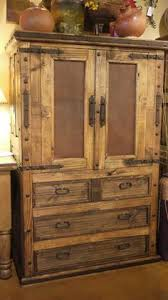 Old Door Leather In Lay Armoire By The Rustic Gallery Of San Antonio TX