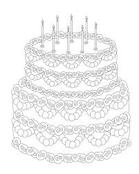 Birthday Cake Coloring Pages For Adults