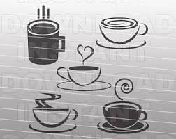 Coffee SVG BundleCoffee Cup FileCoffee Mug File Cutting Vector Clip Art For Commercial Personal Use CricutSilhouetteCameo