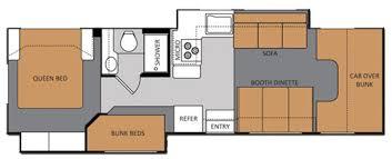 C Floor Plans by Four Winds Rv Class C Motor Home Deangelis Rv Rentals