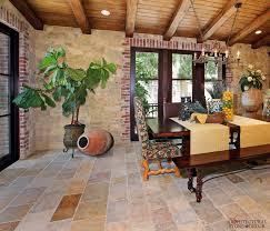 Tuscan Dining Room Reclaimed Limestone Flooring Barre Gray