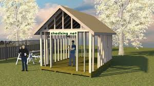 12x16 Slant Roof Shed Plans by Build Shed Roof Best Image Voixmag Com