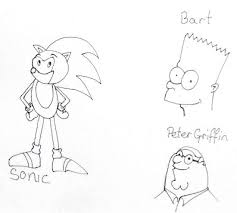 Easy Drawing Cartoons Sonic Bart Peter Griffin