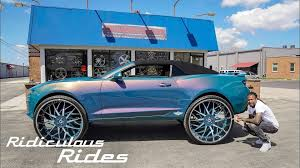 100 Convertible Chevy Truck Camaro On 32Inch Wheels Will Not Leave You Indifferent
