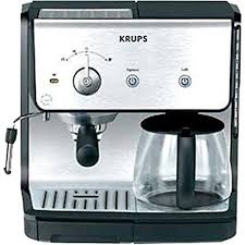 KRUPS XP2010 Combination Unit With 10 Cup Coffee Maker 15 Bar Pump Espresso