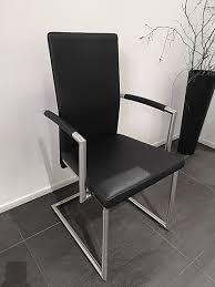 stuhl mit armlehnen echtleder schwarz edelstahlgestell stuhl mit armlehnen echtleder schwarz edelstahlgestell