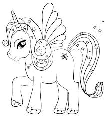 Unicorn Printable Coloring Pages Unicorns Pictures Of To Color With Baby Cute
