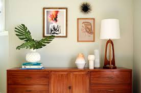 Styling a Credenza Mid Century Modern