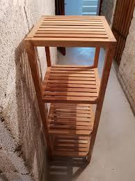 badezimmer schrank echtholz