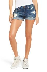 blanknyc boyfriend denim shorts dress down party nordstrom