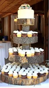 Image Source Unknown Tiered Rustic Wedding Cupcakes Camo