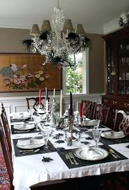 View In Gallery Romantic Table Setting With Orange Roses Halloween