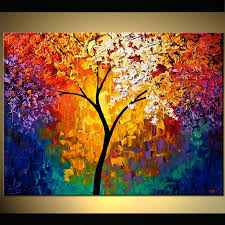 Buy Beautiful Landscape Paintings Modern And Contemporary Artworks Colorful Of Forests Trees Cloudy Skies Other