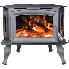 Ashley 1 800 sq ft EPA Certified Bay Front Wood Stove with Legs