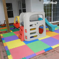 outdoor patio cushioned children s play mat using softtiles foam