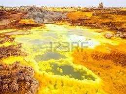 Sulphur Lake Dallol In A Volcanic Explosion Crater The Danakil Depression Northeast Of