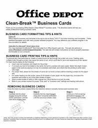 fice Depot Paper Templates Resume 16 ficedepot Business Card