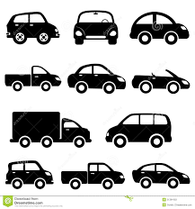 Car And Truck Icon Set Stock Vector. Illustration Of Convertible ...