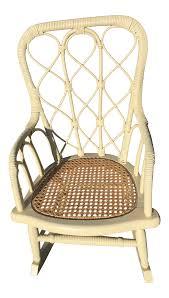 Antique Victorian Wicker Childs Rocking Chair