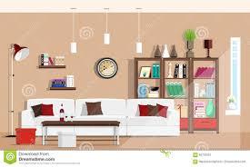innenarchitektur des kühlen grafischen wohnzimmers mit