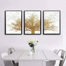 abstrakte goldene leinwand bild wand bilder nordic gold tree