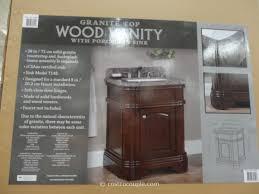 Single Sink Bathroom Vanity With Granite Top by Lanza 28 Inch Single Sink Vanity With Granite Top