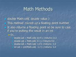 math with java the math class first a quick review of math