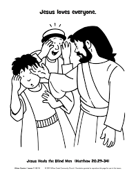 New Coloring Page Jesus Heals The Man Born Blind Bible