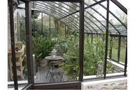 serre adossée chambord sur muret jardin couvert